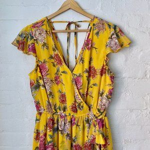 Band of Gypsies Floral Maxi Dress Size M